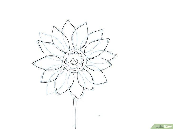 10 Gambar Bunga Matahari Yang Mudah Digambar 9 Cara Untuk Menggambar Bunga Wikihow Kaligrafi Bunga Matahari Gam Gambar Bunga Menggambar Bunga Lukisan Gambar