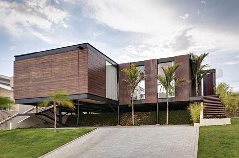 Casas em balanço - veja fachadas super contemporâneas e lindas - fachadas contemporaneas
