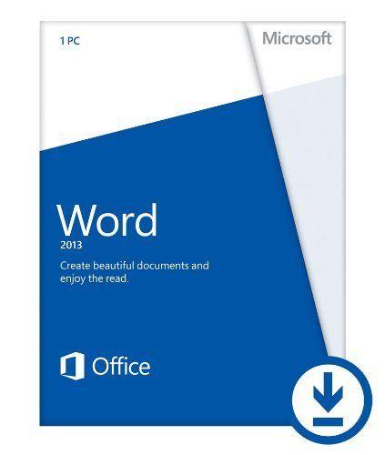 Microsoft Word 2013 (1PC/1User) Download by Microsoft,   www
