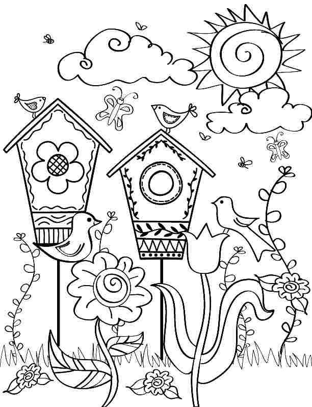 Printable Free Spring Season Coloring Sheets For Kids & Boys