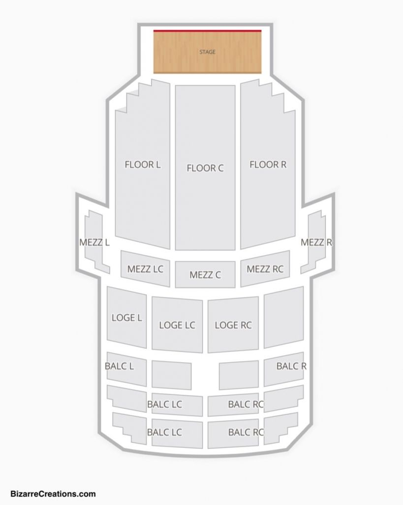 fisher theater seating chart