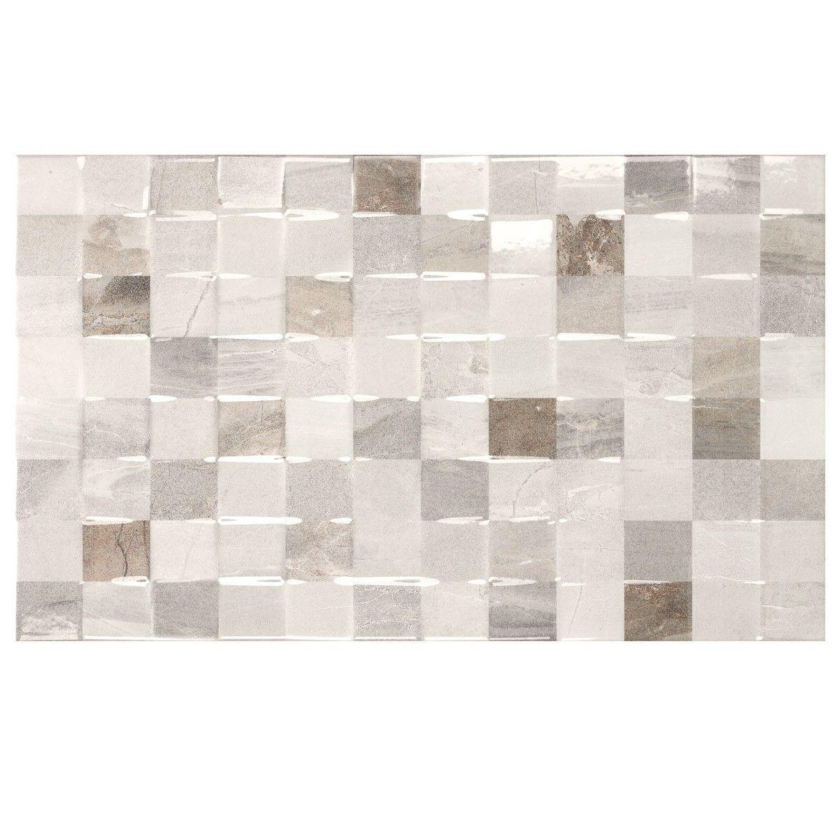Atrium Kios Gris Glazed Porcelain Floor Tile: £15.19 M2 Atrium Kios Gris Relieve Glazed Porcelain Wall