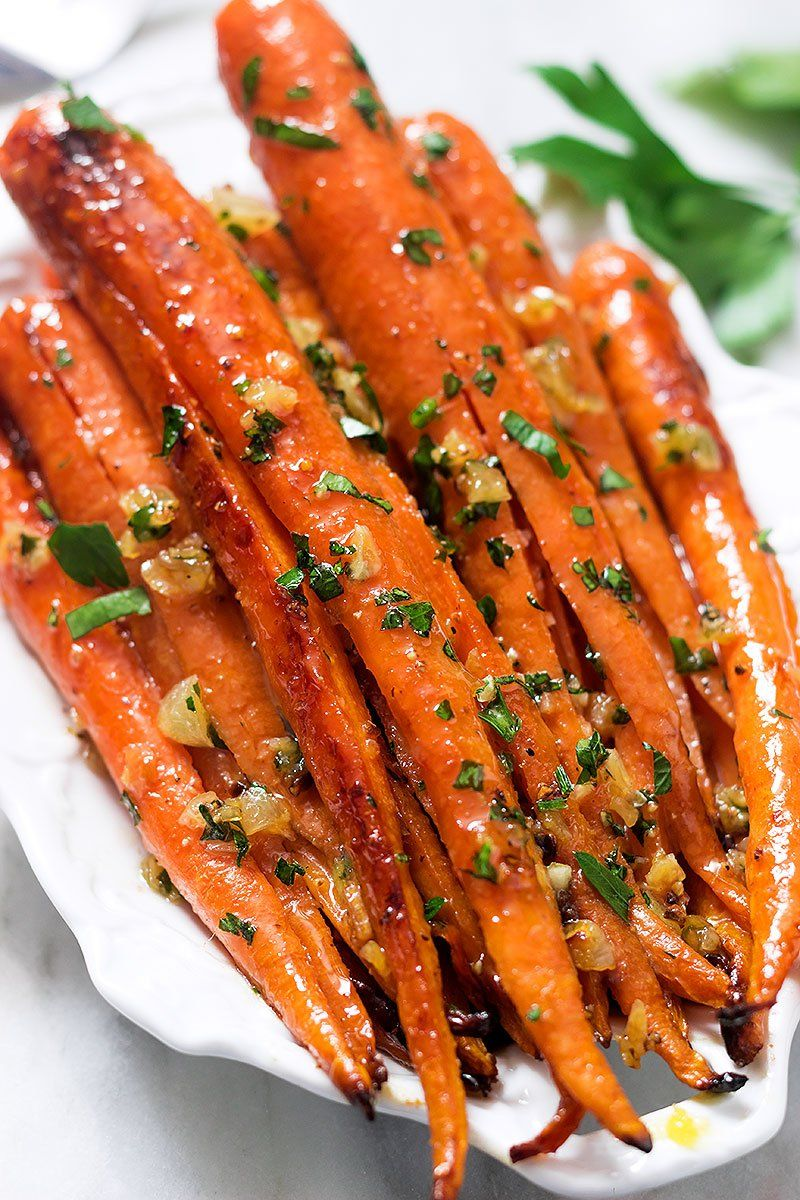 Honey Garlic Butter Roasted Carrots Recipe Roasted Carrots