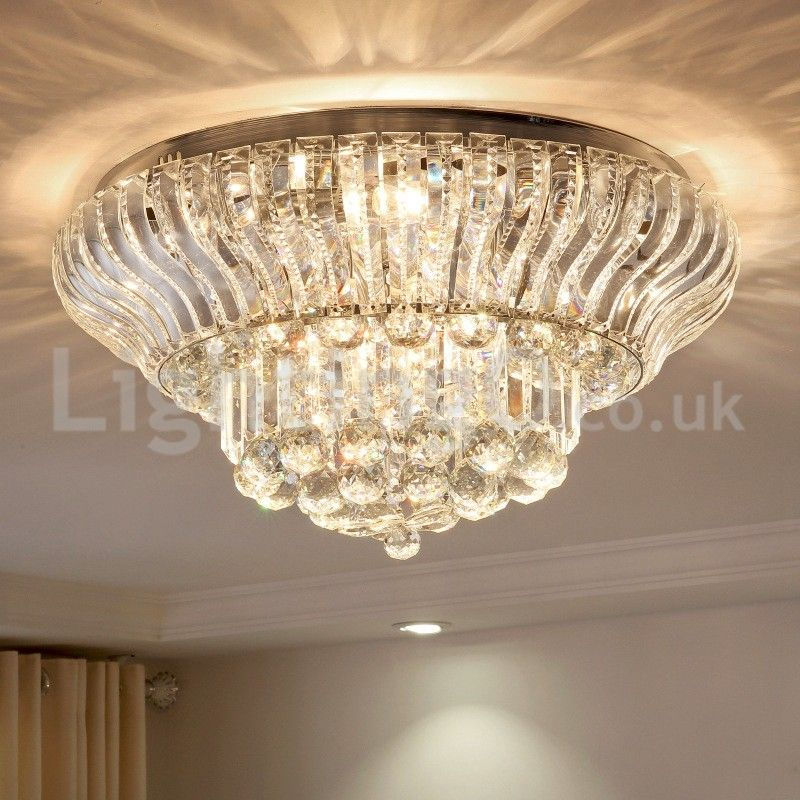 Contemporary Modern 38cm 57cm Round Flush Mount Crystal Ceiling Lights Hallway Balcony Aisle Entrance Dining Room Bedroom Living Room Lightingo Co Uk Ceiling Lights Crystal Ceiling Light Flush Mount Ceiling Lights