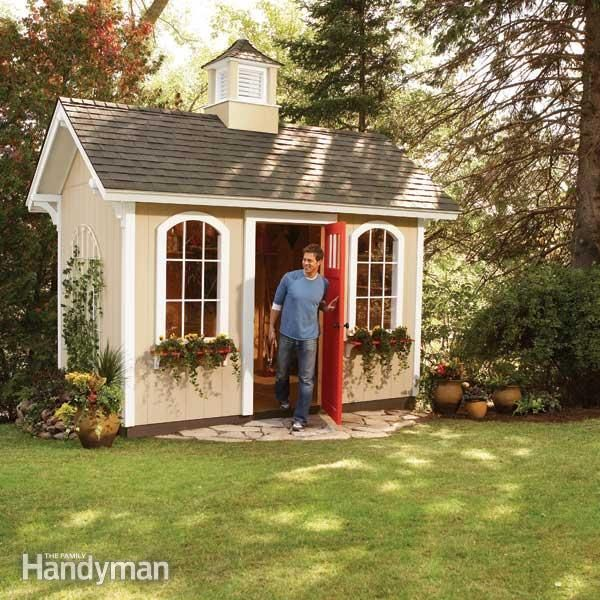 decorative shed ideas | How to Build a Cheap Storage Shed | The Family Handyman & How to Build a Shed on the Cheap | Cheap storage Storage and Gardens