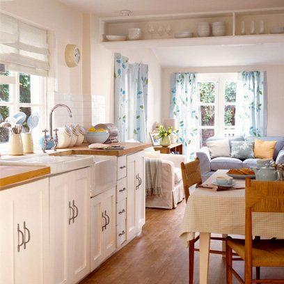 white, scandi kitchen, country, wooden worktops, belfast sink ... - Sofa Für Küche