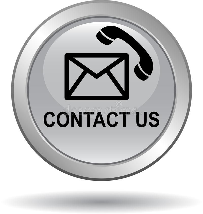 Contact Us Button Mail Call Icons Gray Silver Vector Illustration Isolated On W Ad Call Icons Gray Contact Blurry Lights Vector Illustration Icon