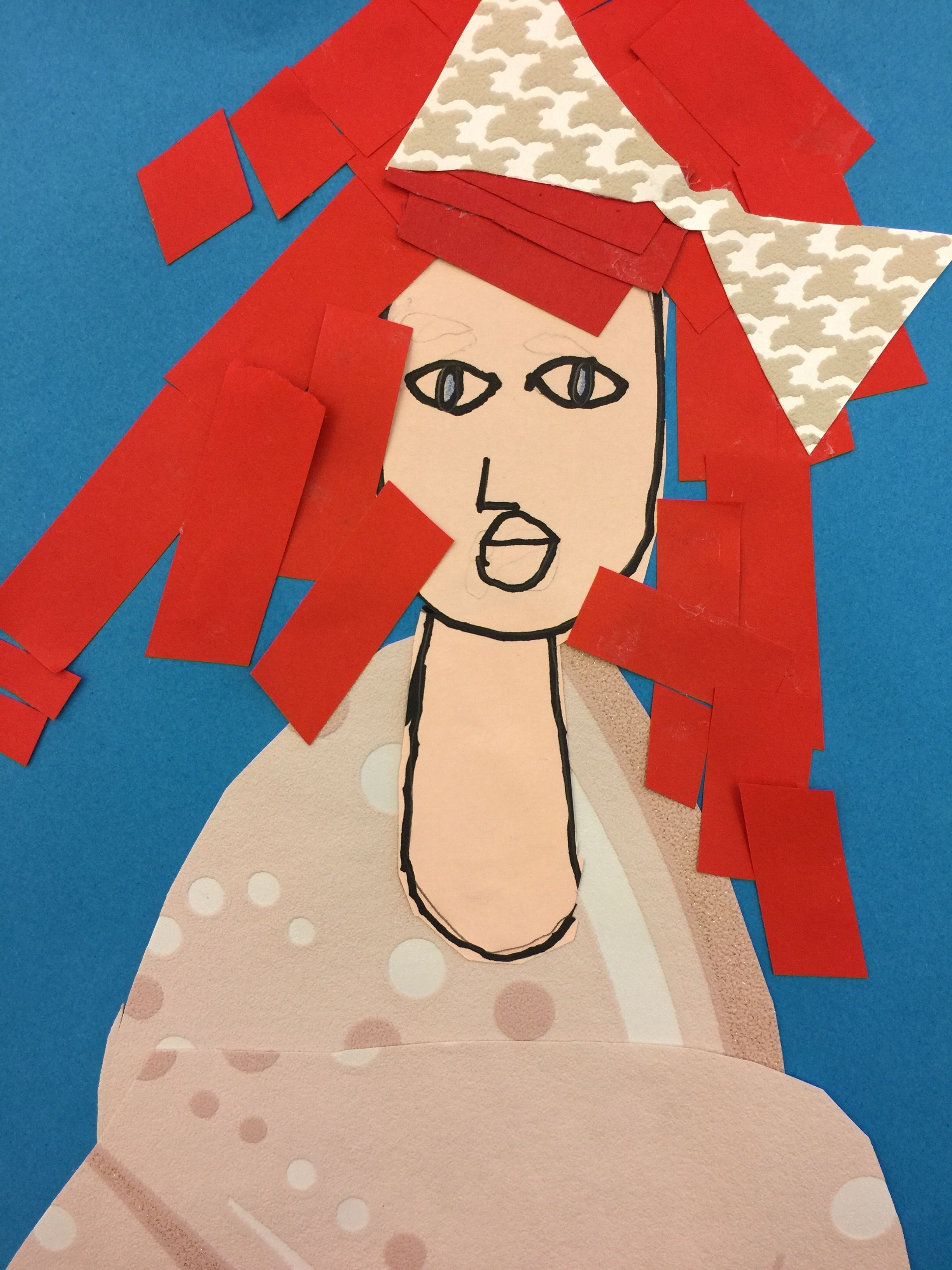 Collage using wall paper samples. 2nd grade