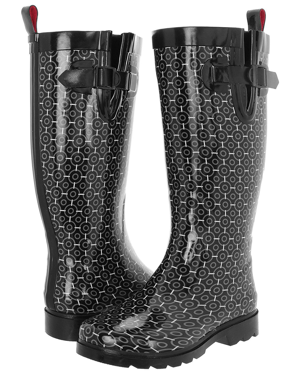 Capelli New York Ladies Geometric Outline Printed Tall Rubber Rain Boot >>> Find out more about the great product at the image link.