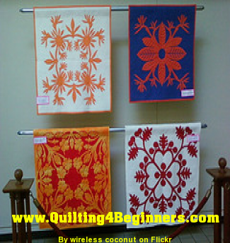 Hawaiian Quilting techniques mostly use applique. Snowflakes and ... : hawaiian quilting techniques - Adamdwight.com
