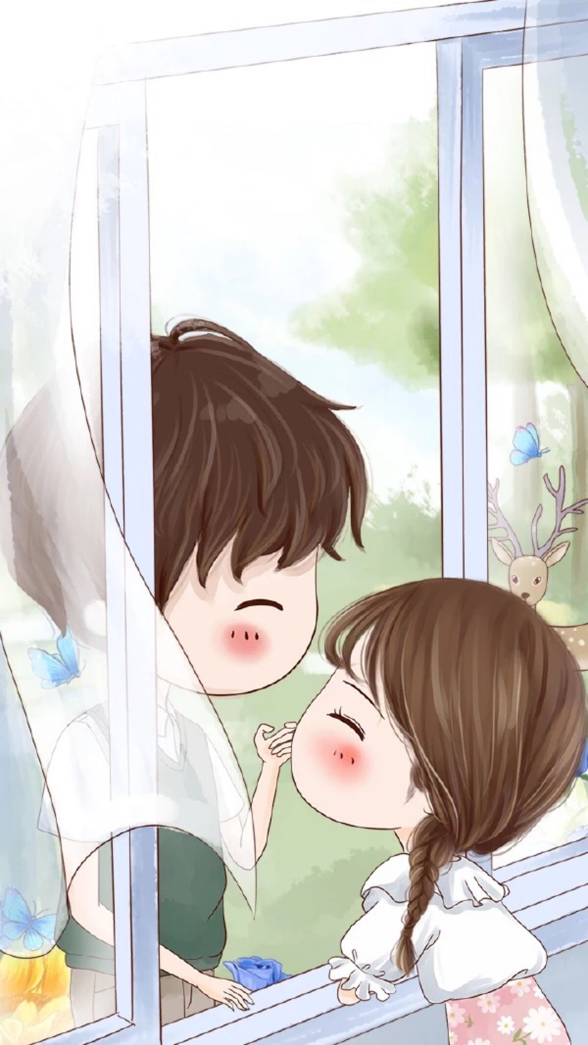 Pin by mint on Couple Cute couple cartoon, Cute chibi