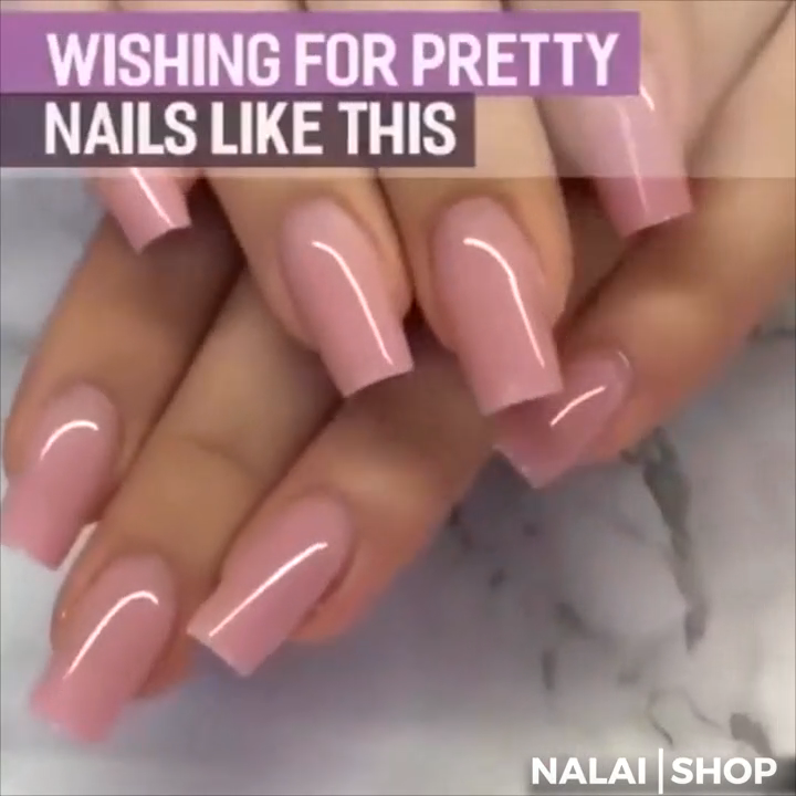 Polygel Is An All In One Formula To Get Salon Quality Nails Right At Home No Monomer No Mixing And No Ratios In 2020 With Images Pink Acrylic Nails Polygel Nails Gel