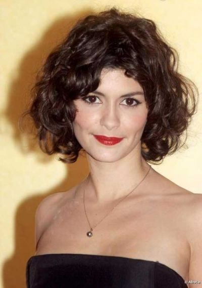 Audrey Tautou Thick Hair Styles Short Curly Hair Curly Hair Photos