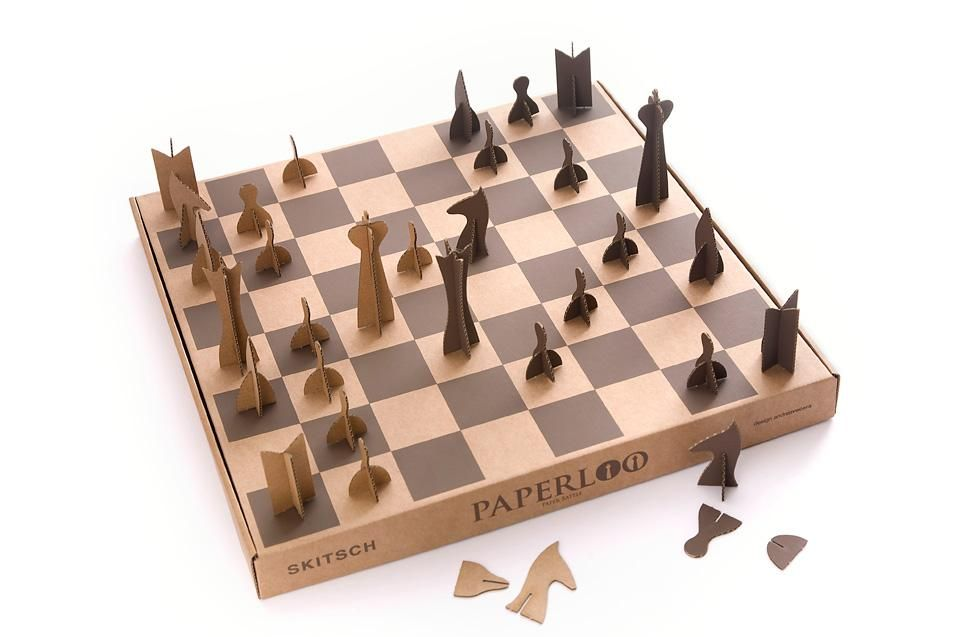 Skitsch Paperloo Chess set, Chess board, Chess