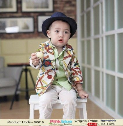 633998c5d Cool and Trendy Formal White Summer Coat for Boys in India with ...