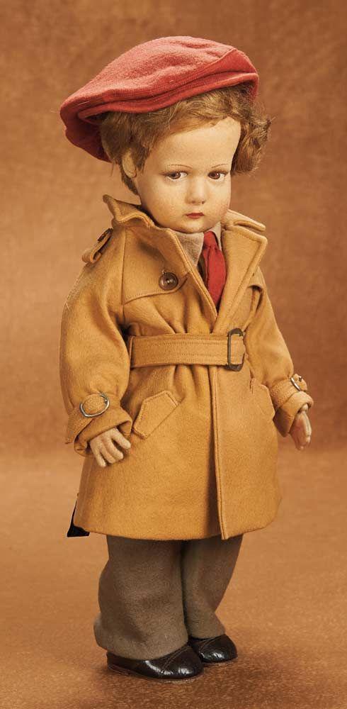 Italian Felt Character Boy by Lenci in Original Stylish Costume. http://Theriaults.com/