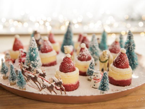 Cheery Cheesecake Santa Hats