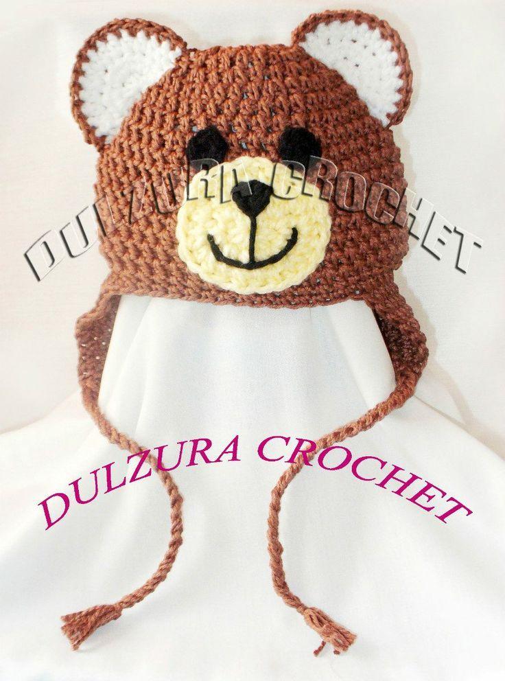 Lujoso Oso Patrón De Crochet Sombrero Del Bebé Componente - Manta de ...