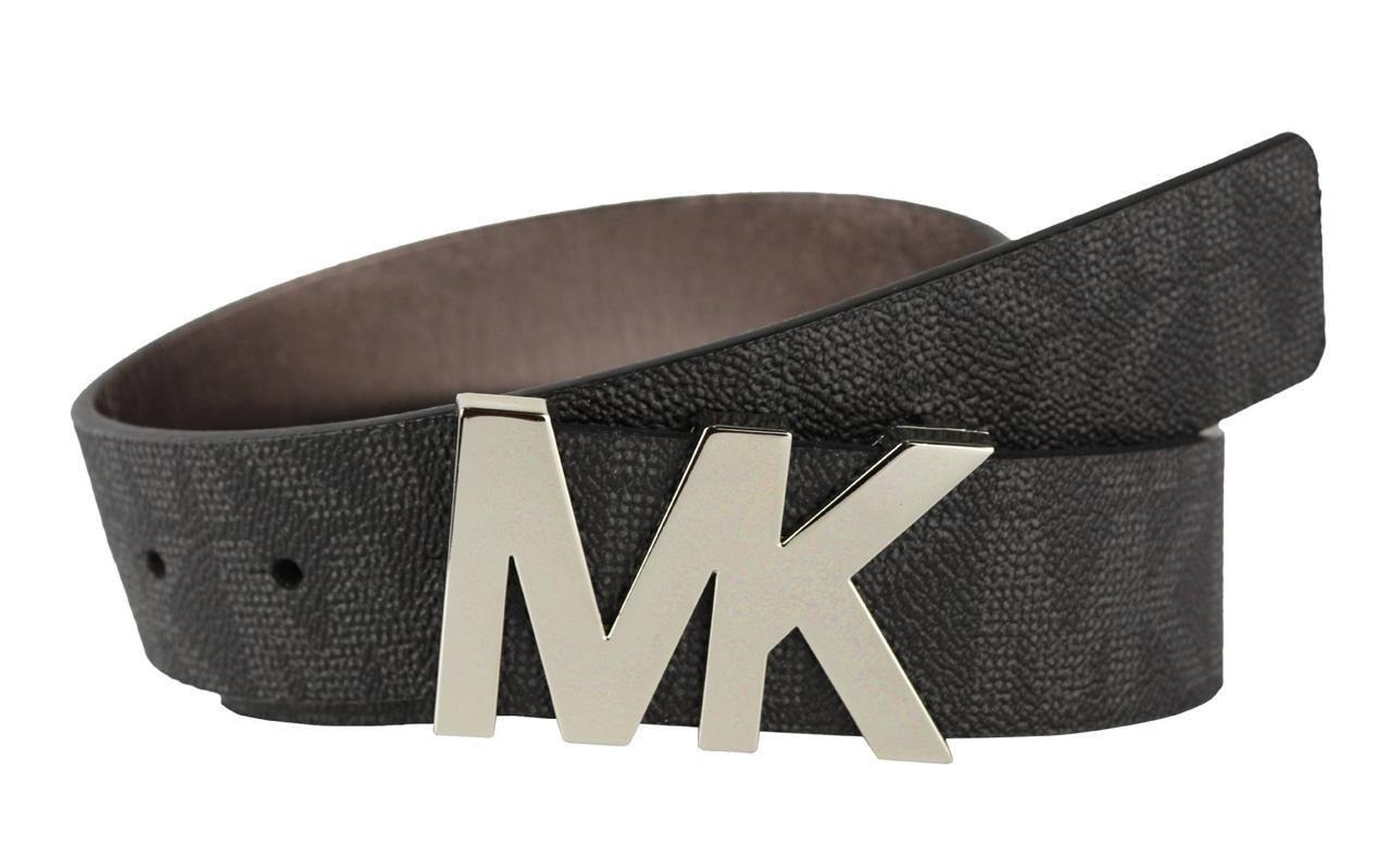 Black mk logo other side silver snakeskin. | Belt, Mk logo