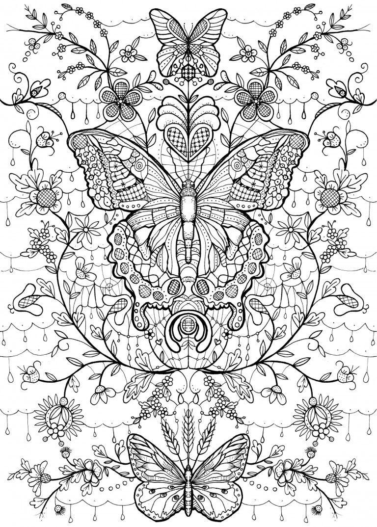 kolorowanki dla dorosłych | Mariposas 01 | Pinterest | Mandalas ...