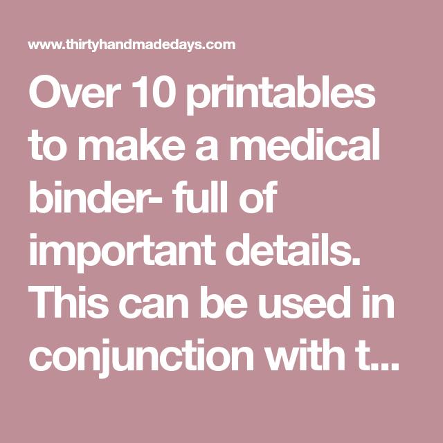 Binder, Medical, Filing Papers