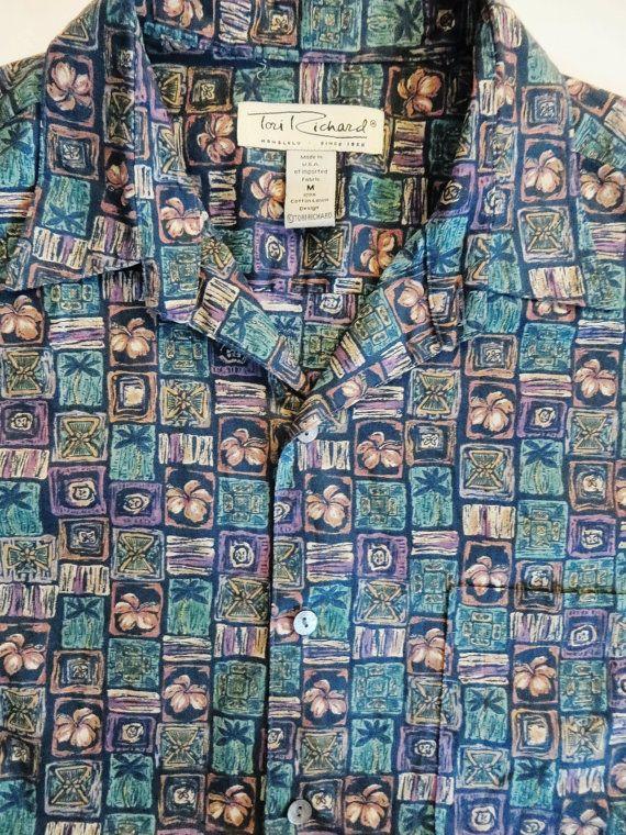 Vintage Hawaiian Shirt Tori Richard Shirt  Green by TomCatBazaar
