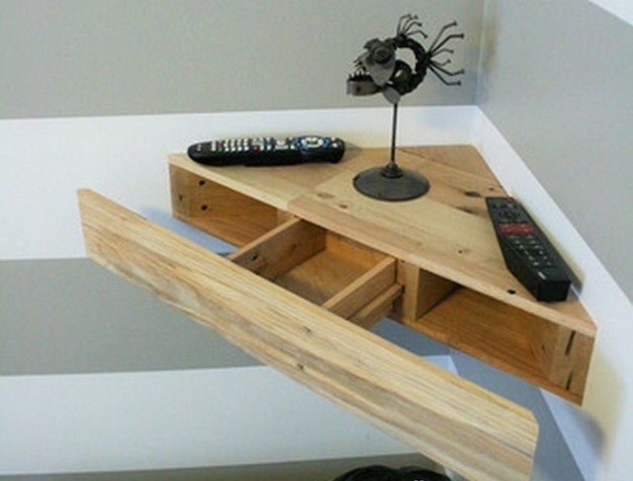 1001 id es arrangemnt wall pinterest tag re mobilier de salon et etagere angle - Tablette murale avec tiroir ...