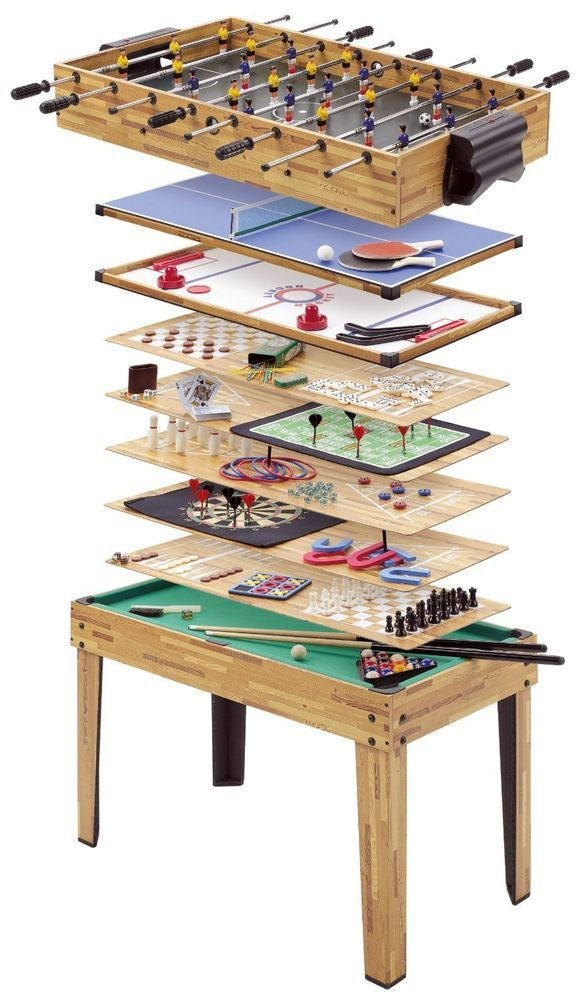 Poker Table Foosball Ping Pong Multi Game Tables Set Glide Hockey  Combination