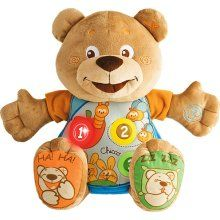 Chicco Bilingual English Spanish Teddy Bear Easy To Push Buttons For Little Fingers Educational Soft Baby Chicco Baby Toys Best Baby Toys My Teddy Bear