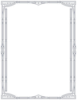 Art Deco Page Border Designs