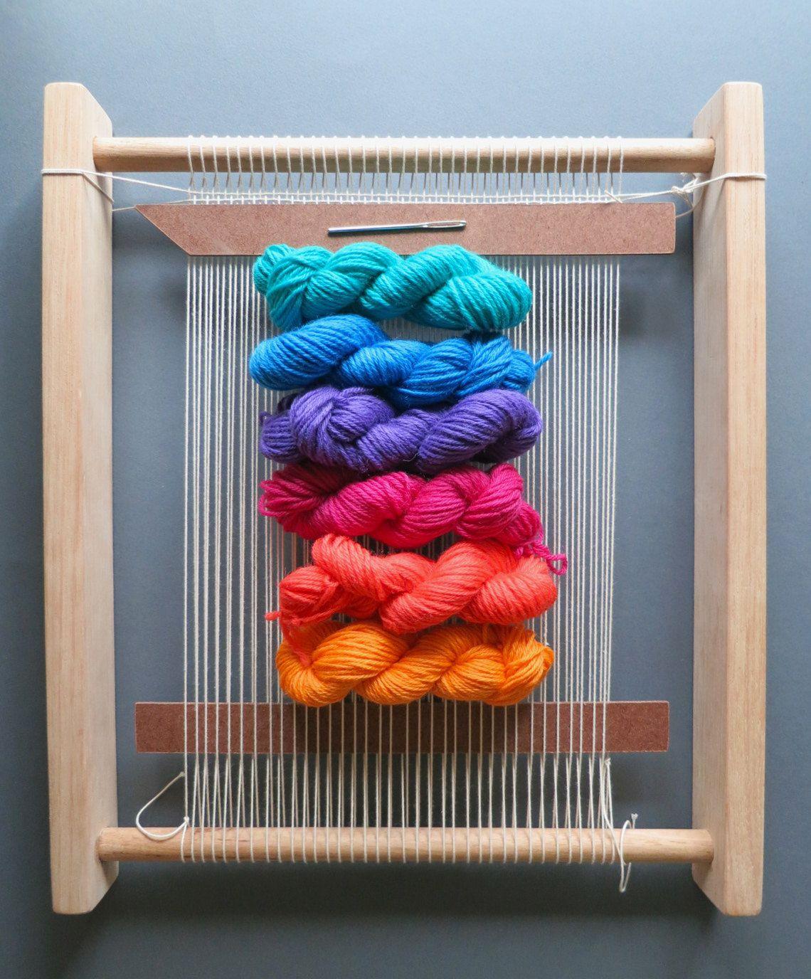 Weaving Loom Kit Weaving Frame Shed Stick Yarn Needle