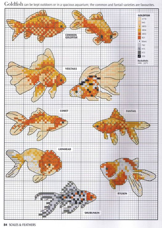 Cat /& Gold fishes Chart Counted Cross Stitch Pattern Needlework