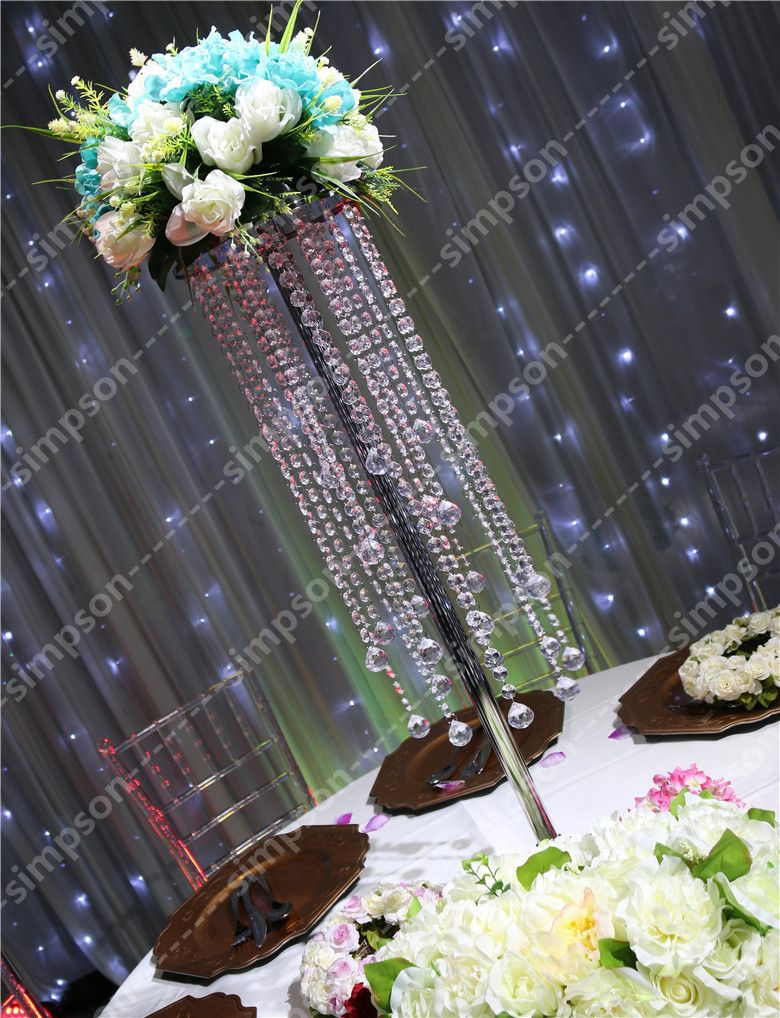 Fedex 10pcs Lots Acrylic Crystal Wedding Centerpiece 70CM Tall Event Party Decorations Road