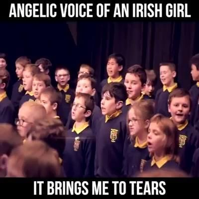 An Irish school girl's great performance: singing