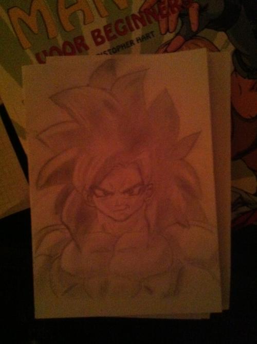 My first finished manga drawing