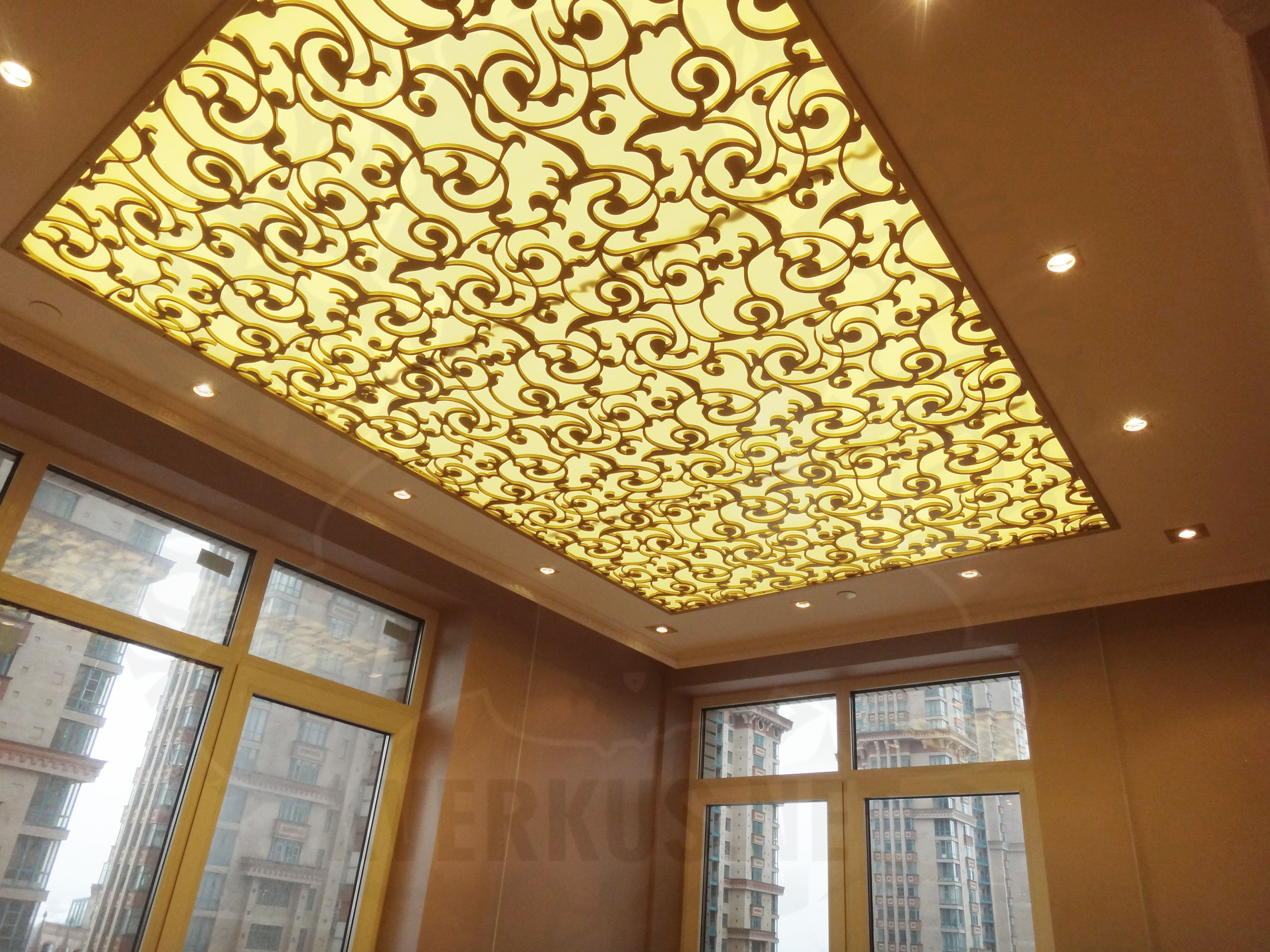 ceiling #light #decor #lasercut #metal #декоративныйпотолок ...