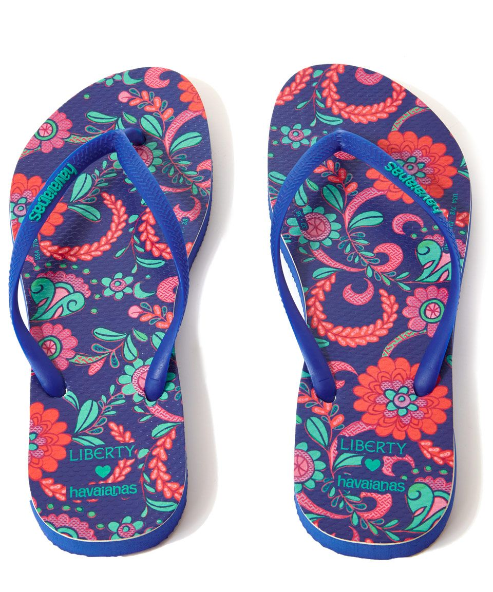 097e6ae1781566 Liberty for Havaianas Size UK 6 7 Tropical Bloom Liberty Print Slim Flip  Flops