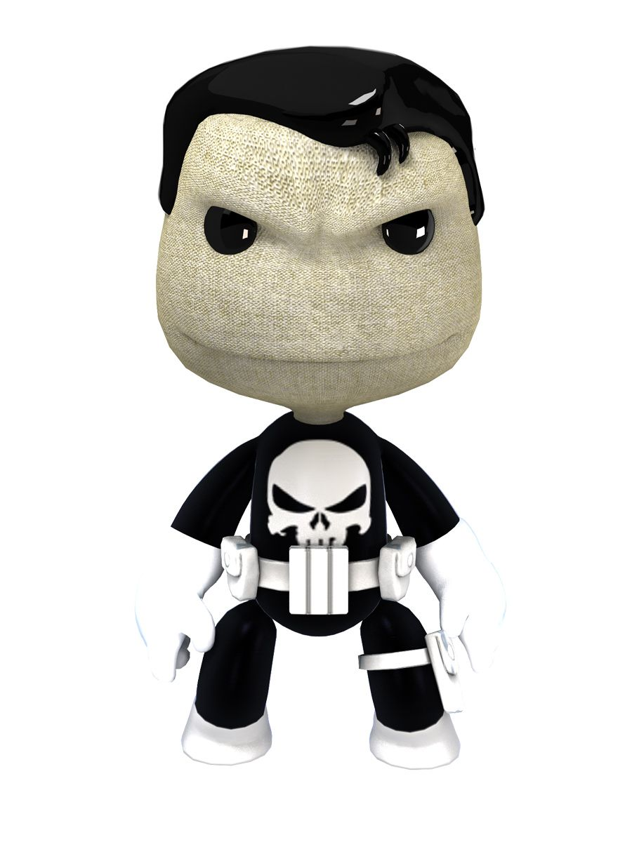 Punisher Sackboy | LINDOS PERSONAJES | Pinterest