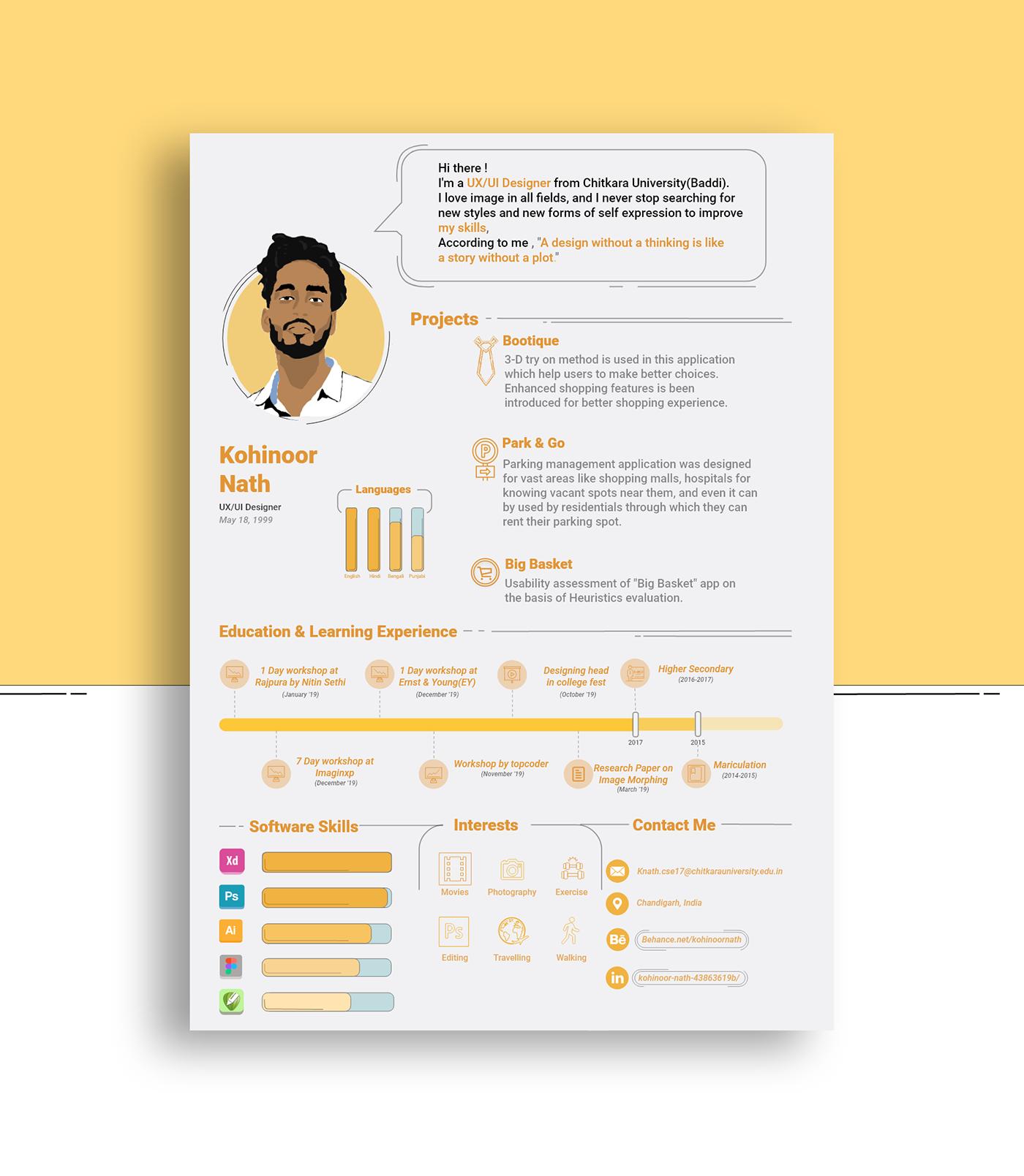 Creative Infographic Cv Resume