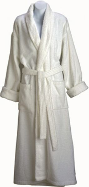 Classic shawl collar robe style is ideal for both men and women. Robes are  made of durable 100% cotton terry velour. Available in White. Machine  washable. 50ae97a9f