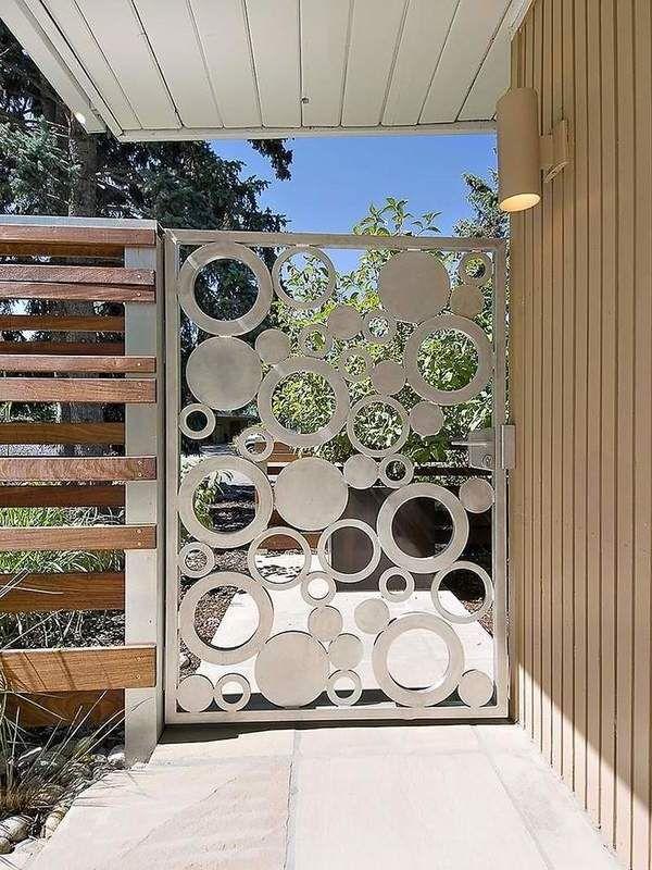 Kombinierter Edelstahl Gartentor Gates Beautiful Modern