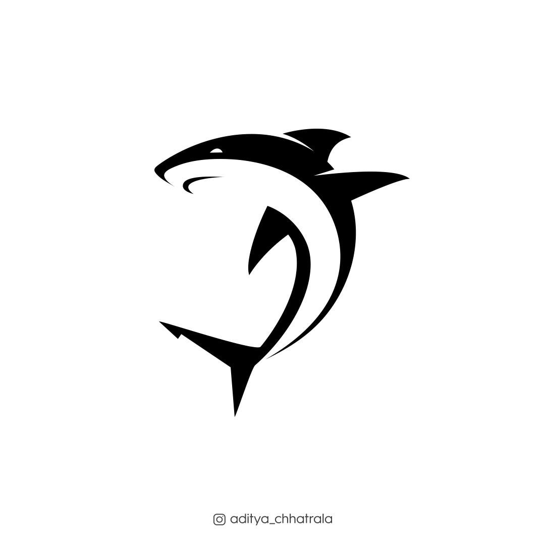 Shark. in 2020 Shark, Surf art, Cool logo