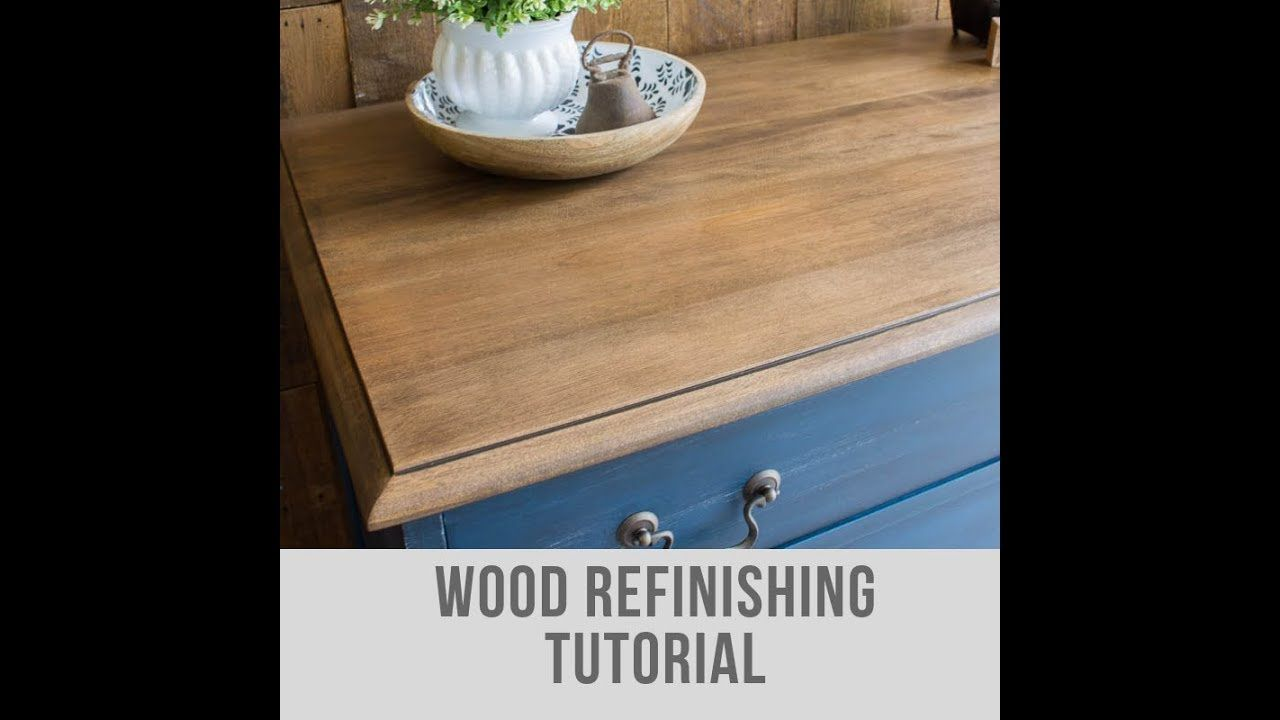 How To Strip And Refinish Wood Furniture With Water Based Stain Full Video Tutorial By Jenni Of Roots Wings