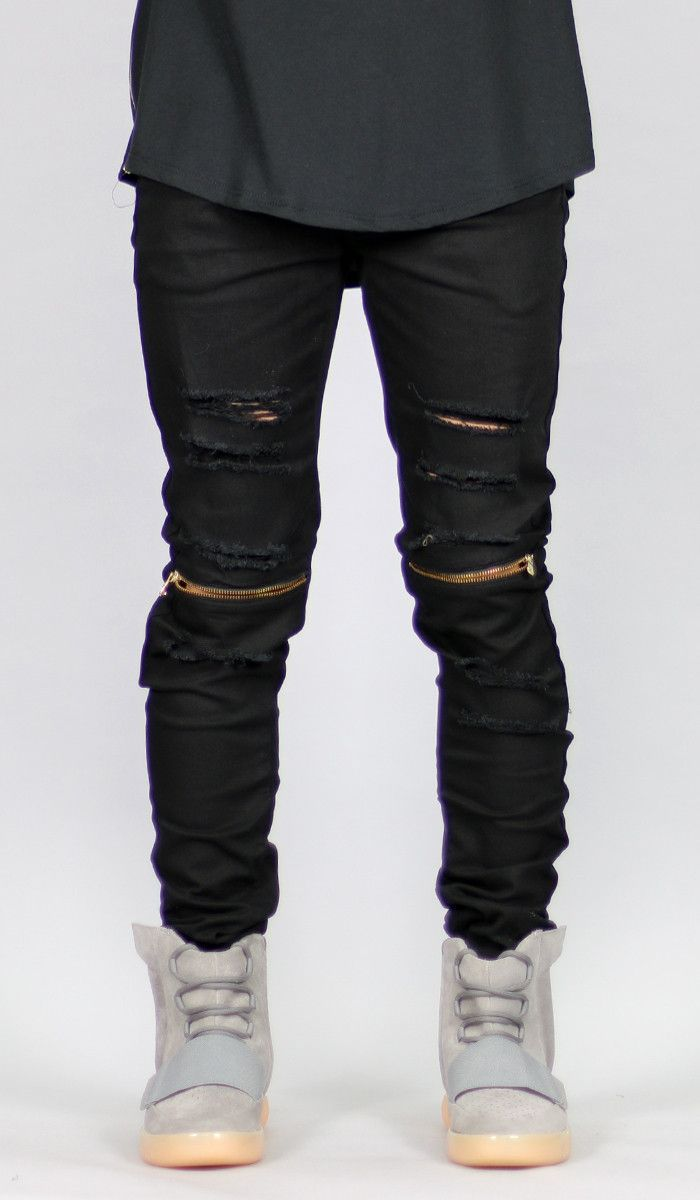 sold worldwide 2019 best new Black Knee Zipper pant | Clothes, Ink, And Stuff | Black ...