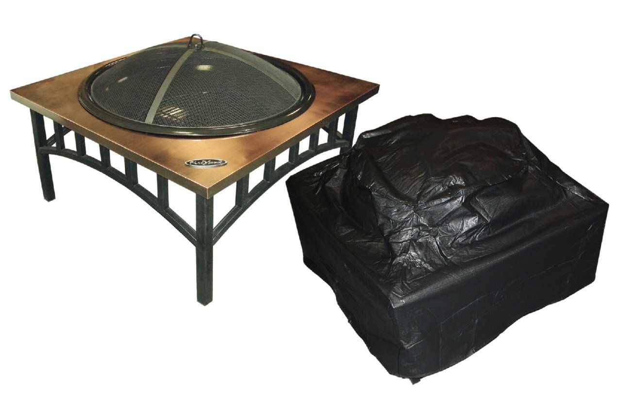 Photo of Outdoor Square Fire Pit Vinyl Cover Well Traveled Living FireSense 02056