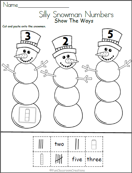 Snowman Math Worksheet Show The Ways Madebyteachers Snowmen Math Math Worksheets Math Worksheet