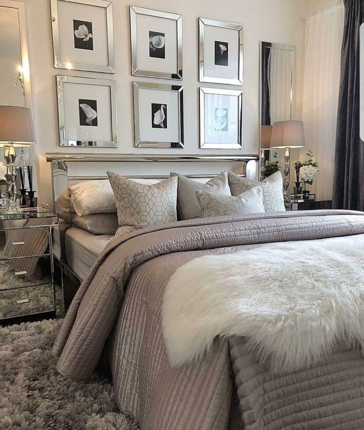 Bedroom Design Normal Bedroom Sets Malaysia Black Bedroom Furniture Sets Bedroom Sets Aarons: Glam Neutral Bedroom Mirrored Frames