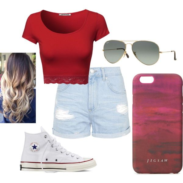 Hipster by dezaray-duque on Polyvore featuring polyvore fashion style Topshop Converse Ray-Ban Jigsaw