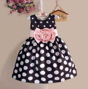 ... Kids Toddler Girls Princess Dress Sleeveless Polka Dots Bowknot Dress 2  color Top quality navy blue white. baby-frocks-designs-3 7c45badfd0e2