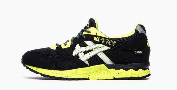 quality design b19d7 17832 ASICS Gel-Lyte V Gore-Tex Black Yellow